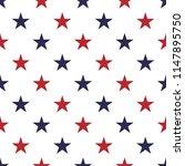 seamless stars pattern vector    Shutterstock .eps vector #1147895750