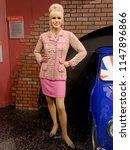 blackpool  january 14  madame... | Shutterstock . vector #1147896866