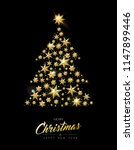 merry christmas and happy new... | Shutterstock .eps vector #1147899446