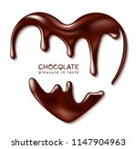 chocolate in the form of heart. ... | Shutterstock .eps vector #1147904963