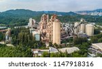 aerial view cement plant... | Shutterstock . vector #1147918316