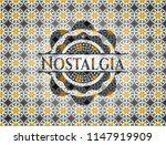 nostalgia arabesque style badge.... | Shutterstock .eps vector #1147919909