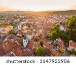 aerial view of ljubljana ... | Shutterstock . vector #1147922906