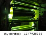 uv coating plastic film | Shutterstock . vector #1147925396