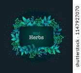herbal pre made composition.... | Shutterstock .eps vector #1147927070