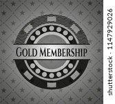 gold membership black badge | Shutterstock .eps vector #1147929026