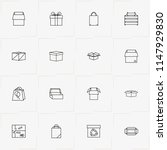 boxes   packages line icon set... | Shutterstock .eps vector #1147929830