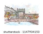 historical building of fatehpur ... | Shutterstock .eps vector #1147934153