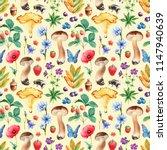 summer seamless pattern.... | Shutterstock . vector #1147940639