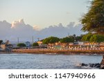 Lahaina Town View At Sunset On...