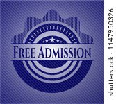 free admission emblem with jean ... | Shutterstock .eps vector #1147950326