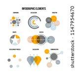 business data visualisation...   Shutterstock .eps vector #1147954670