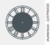 vintage clock vector | Shutterstock .eps vector #1147956533