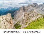 panoramic view of a climber... | Shutterstock . vector #1147958960