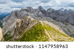panoramic view of a climber... | Shutterstock . vector #1147958963