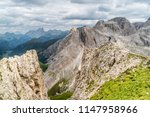 panoramic view of a climber... | Shutterstock . vector #1147958966
