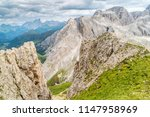 panoramic view of a climber... | Shutterstock . vector #1147958969