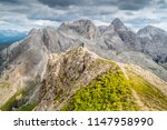 panoramic view of a climber... | Shutterstock . vector #1147958990