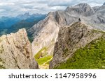 panoramic view of a climber... | Shutterstock . vector #1147958996