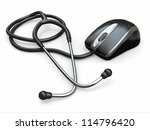 stethscope and computer mouse.... | Shutterstock . vector #114796420