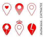 geolocation icon pack. set of...