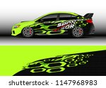 car decal vector  graphic... | Shutterstock .eps vector #1147968983