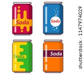 soda water carbonated .soft... | Shutterstock .eps vector #1147974029