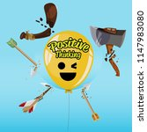 balloon of positive thinking ... | Shutterstock .eps vector #1147983080