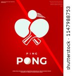 ping pong club logotypes.... | Shutterstock .eps vector #1147988753