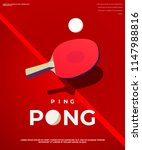 ping pong poster template.... | Shutterstock .eps vector #1147988816