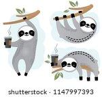 Cute Vector Sloth Bear Animal...