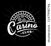 casino club logo. vector and... | Shutterstock .eps vector #1147998746