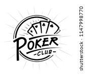 poker club logo. black and... | Shutterstock .eps vector #1147998770