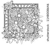 adult coloring page with... | Shutterstock .eps vector #1148008646