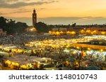 jamaa el fna market square ...   Shutterstock . vector #1148010743