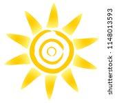 sun icon as vector on a... | Shutterstock .eps vector #1148013593