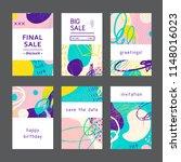 set of creative universal... | Shutterstock .eps vector #1148016023