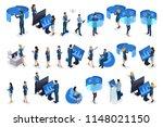 isometric businessmen with... | Shutterstock .eps vector #1148021150