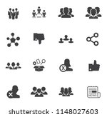 social media and network icons | Shutterstock .eps vector #1148027603