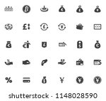 money icons  money cash icons... | Shutterstock .eps vector #1148028590