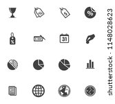 seo and online marketing icons... | Shutterstock .eps vector #1148028623