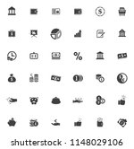 vector business financial icons ... | Shutterstock .eps vector #1148029106