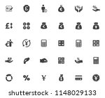 vector business financial icons ... | Shutterstock .eps vector #1148029133