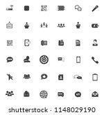 vector communication icons  ... | Shutterstock .eps vector #1148029190