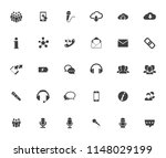 vector communication icons  ... | Shutterstock .eps vector #1148029199