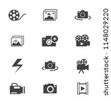 icons camera with no photos ... | Shutterstock .eps vector #1148029220