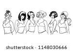 sketching portrait of... | Shutterstock .eps vector #1148030666