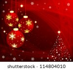 christmas background | Shutterstock .eps vector #114804010