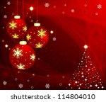 christmas background | Shutterstock .eps vector #114804010