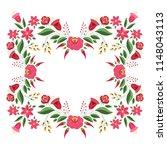 hungarian folk pattern vector... | Shutterstock .eps vector #1148043113